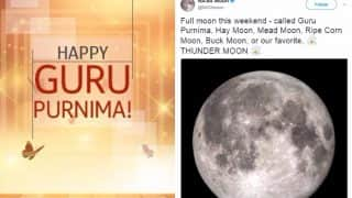 Guru Purnima 2017: NASA Tweet Tells This Weekend's Full Moon is Called Guru Purnima, Hay, Mead, Ripe Corn, Buck & Thunder Moon