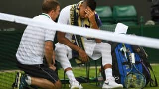 Wimbledon 2017: Nick Kyrgios Retires After Hip Injury Against Pierre-Hugues Herbert