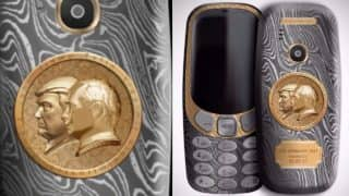 Nokia 3310 luxury Putin-Trump Summit Edition Mobile Phone priced at Rs 1.6 Lakh launched (See Pictures)