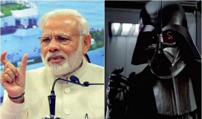 Indian PM exits speech to Darth Vader music - RT Viral