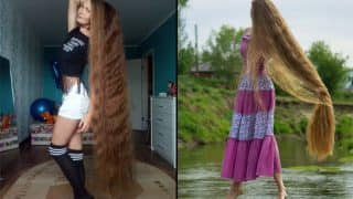 Russia's real-life Rapunzel has hair that measures almost  6 feet! (See Pictures)