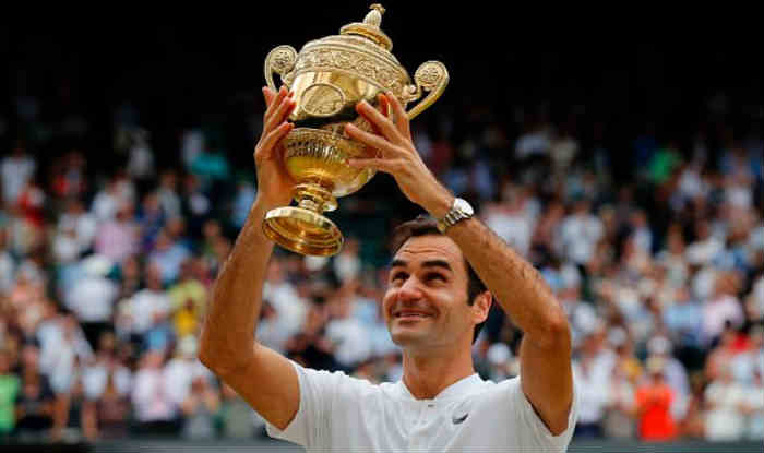 Roger Federer aims to defend his Wimbledon title in 2018. (twitter)