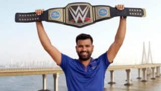 Rohit Sharma Strikes a Pose with Special Gift from WWE Star Triple H