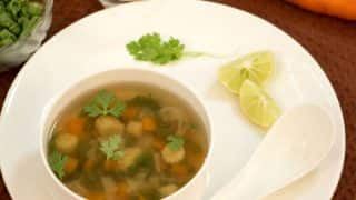 Healthy Lemon and Coriander Soup Recipe For Monsoon