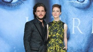 Real-life Game of Thrones Couple Kit Harington and Rose Leslie Look Adorable at the Season 7 Premiere! View Pics