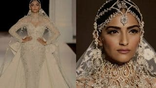 Sonam Kapoor walks the ramp at Paris Fashion Week 2017 wearing Ralph and Russo, made everyone's heads turn in a White Bridal Wear!