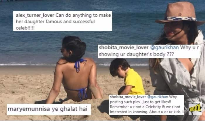 Gauri Khan having gala time with Suhana & AbRam at the Malibu Beach