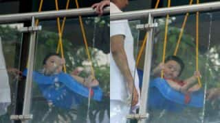 Taimur Is The Real KID OF COOL! Check Out Pics Of Him Chilling In His Balcony