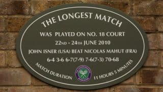 John Isner-Nicolas Mahut Plaque Returns at Wimbledon Post 'Refurbishment'