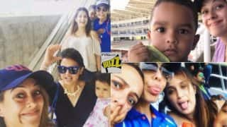 Ziva Dhoni & Zoravar Dhawan Enjoy India vs West Indies 5th ODI! Hazel Keech, Sagarika Ghatge Capture The Fun in Pictures