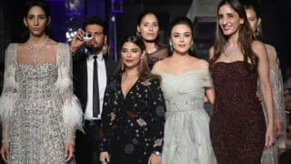 Preity Zinta Steals the Show in Shane and Falguni Peacock's Off-Shoulder Gown at Lakme Fashion Week 2017