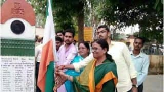 बीजेपी सांसद ने स्वतंत्रता दिवस पर फहराया उल्टा तिरंगा, सोशल मीडिया पर तस्वीरें वायरल