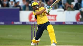 Shahid Afridi Scores 42-Ball Century For Hampshire Against Derbyshire in NatWest T20 Blast, Watch Video