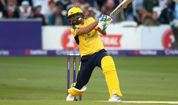 Shahid Afridi crossed 100 in 42 balls at NatWest T20 Blast