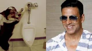 Akshay Kumar Shares This Hilarious Video Of A Dog Pulling Flush Handle After Using The Toilet