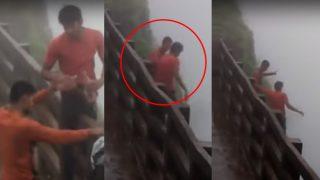 Picnic Gone Wrong: Drunk Men Slip And Fall Into Kawale Saad Point at Maharashtra's Amboli Ghat (Video)