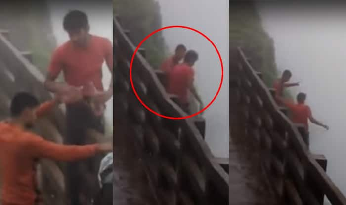 2 fall into Amboli valley, video goes viral
