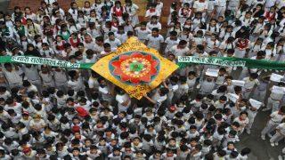 Uttar Pradesh: School Students Craft 100-Feet Rakhi For Indian Soldiers