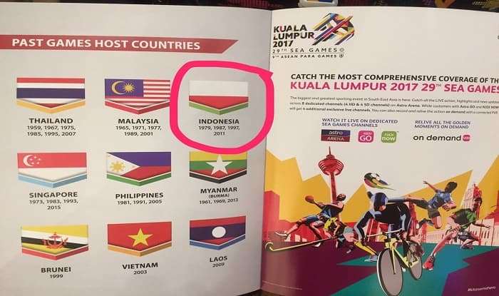 Malaysia Apologizes to Indonesia Over Flag Blunder at SEA Games