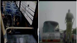 दिल्ली पहुंची राम रहीम पर फैसले की आग, रीवा एक्सप्रेस के दो डब्बे फूंके, हाई अलर्ट