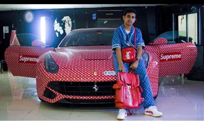 Ihram Kids For Sale Dubai: Rich Dubai Teen Wraps His Ferrari In Supreme X Louis