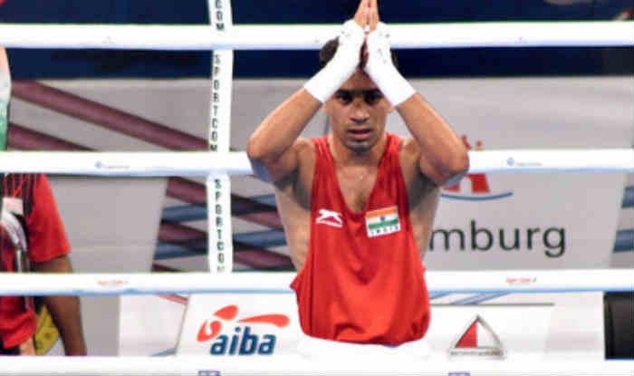 File photo of India boxer Gaurav Bidhuri.
