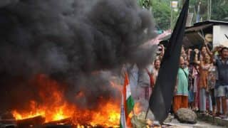 GJM Party Office Set Ablaze on 57th Day of Indefinite Strike