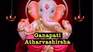 Ganpati Atharvashirsha Stuti Video with Lyrics in Hindi & Sanskrit: Chant Vinayaka Mantra to Seek Blessings on Ganesh Chaturthi