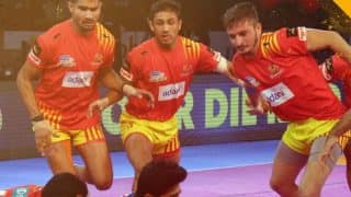 Gujarat Fortunegiants vs Telugu Titans PKL 5: Gujarat Thrash Titans 29-19