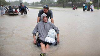 Hurricane Harvey Devastates Texas and Houston, Floods Force People to Flee Homes