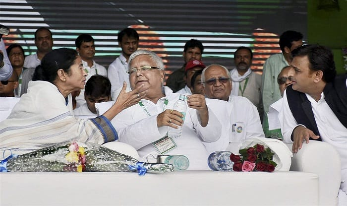 Sharad Yadav and I Made Nitish Kumar, BJP Using Him For Political Gains: Lalu at Grand Opposition Rally
