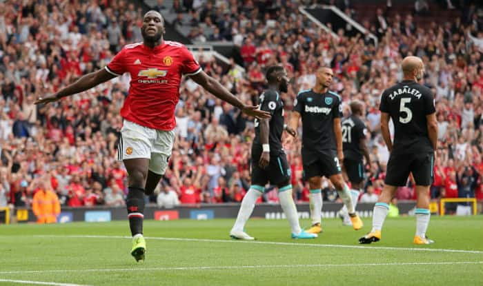 Lukaku of Manchester United celebrates after scoring against West Ham. ©GettyImages