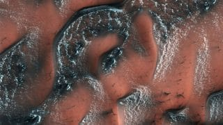NASA Reveals Beautiful Picture Of Snow-Covered Dunes On Mars