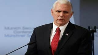 Us Vice President Mike Pence Says 'No Tolerance' For White Supremacists