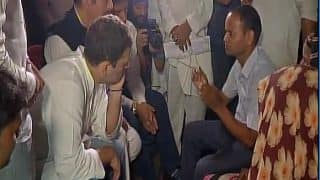Rahul Gandhi Meets Families of Children Who Died in Gorakhpur BRD Medical College