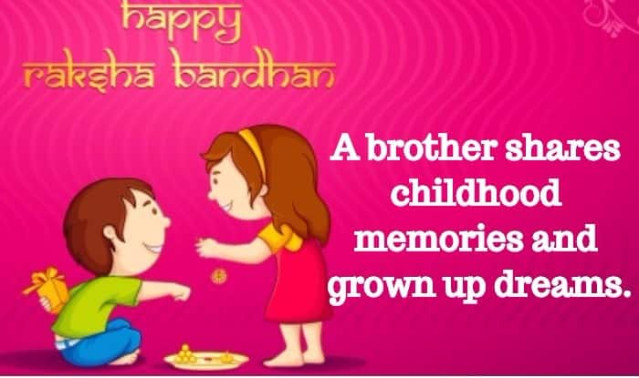 Best Quotes For Brother On Raksha Bandhan: Raksha Bandhan Quotes 2017 In English: Happy Raksha
