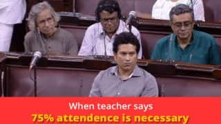 Sachin Tendulkar Attends Rajya Sabha After A Long Time and Twitterati Turn His Picture Into A Meme