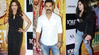 Madhuri Dixit, Sara Ali Khan, John Abraham Clicked At The Special Screening Of Toilet: Ek Prem Katha - View Pics