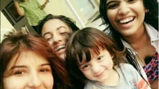 AbRam Poses Adorably As Suhana's Girl Gang Pampers Him With Love!