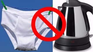 Stop Washing Your Underwear in Hotel Kettle, it's Super, Super Gross: Expert