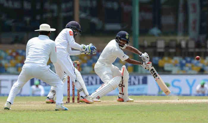 Wriddhiman Saha in action during India's tour of Sri Lanka