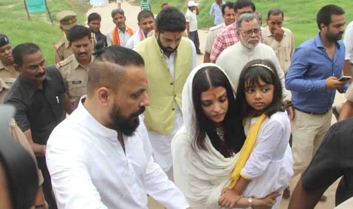 Aishwarya Rai Bachchan immerses father Krishnaraj Rai's ashes in holy Sangam