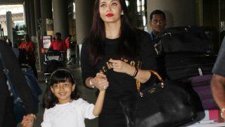 Aishwarya Rai Bachchan And Aaradhya Look Cheerful As They Return From Australia - View Pics
