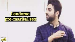 Ayushmann Khurrana Endorses Pre-marital Sex And 5 Other Shocking Celebrity Comments