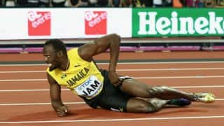 Usain Bolt Injured in His Final Race as Jamaica Fails to Win Medal in Men's 4X100m Relay at World Athletics Championships
