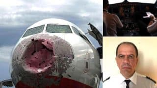 Brave Ukranian Pilot Landed a Plane Safely, After Giant Hailstorms Smashed the Windscreen