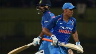 MS Dhoni Survives After Bails Remain Intact When Ball Hits Stumps, Watch Video