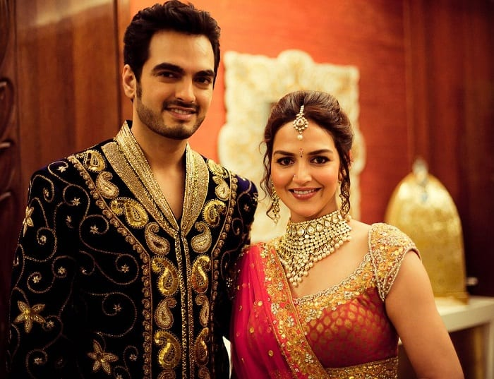 Esha Deol looks radiant in bridal red at her 'Godh Bharai'