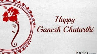 Ganesh Chaturthi Wishes in Hindi: Happy Ganesh Chaturthi 2017 Messages, WhatsApp GIF Images & Greetings for Ganpati Festival
