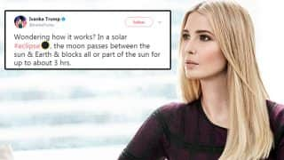 Solar Eclipse 2017: Ivanka Trump Got Schooled By Twitter Users On Her Eclipse Tweet